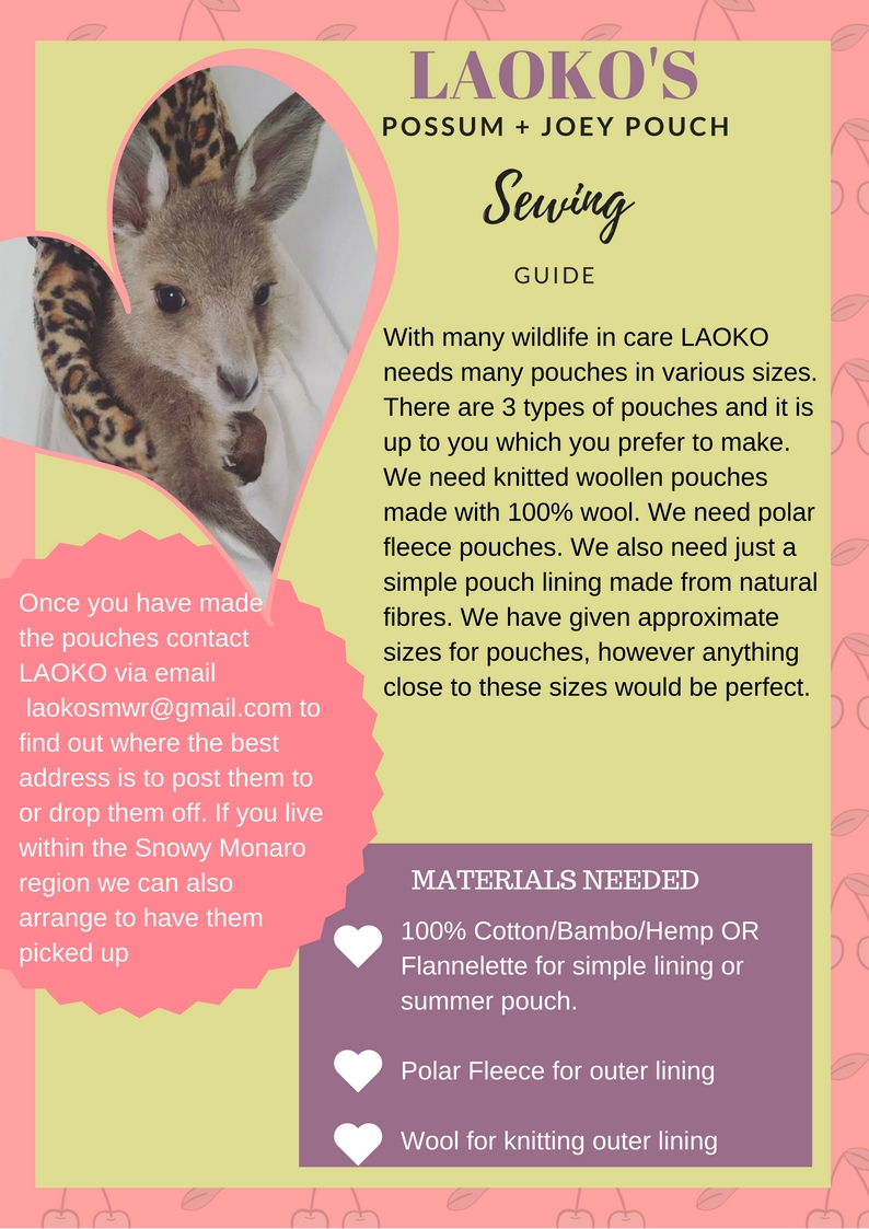 LAOKOS HOW TO MAKE A POUCH FOR A JOEY