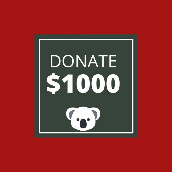 BUSHFIRE APPEAL: DONATE $1000